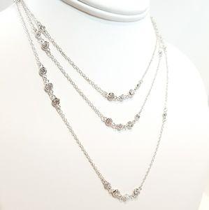 Jewelry - SALE !! Diamond by the yard CZ Long Chain Necklace